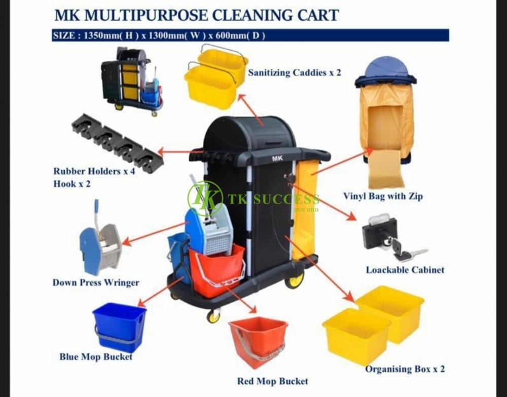Multipurpose Janitor Cart Full Set