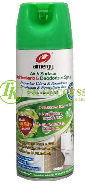 Airnergy Air & Surface Disinfectant & Deodorizer Spray 400ml