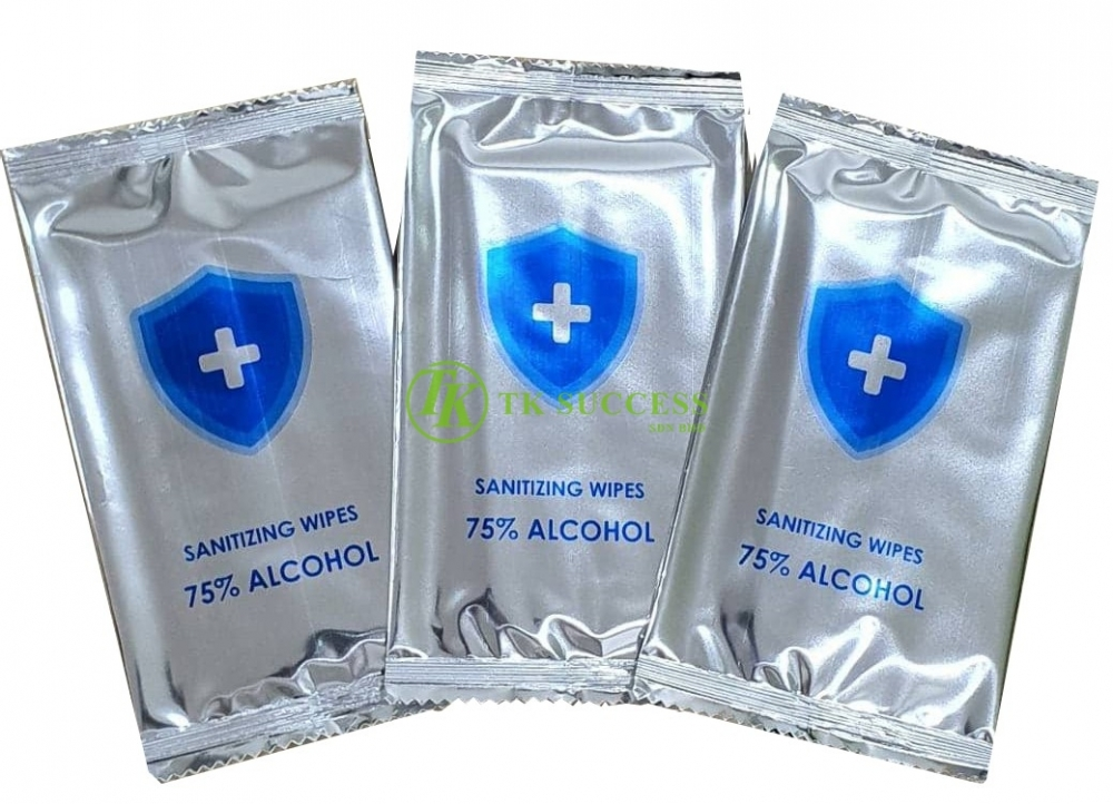 Sanitizing Wet Wipes Alcohol 75%