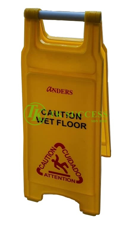 Anders Yellow Caution Sign Board - CAUTION WET FLOOR