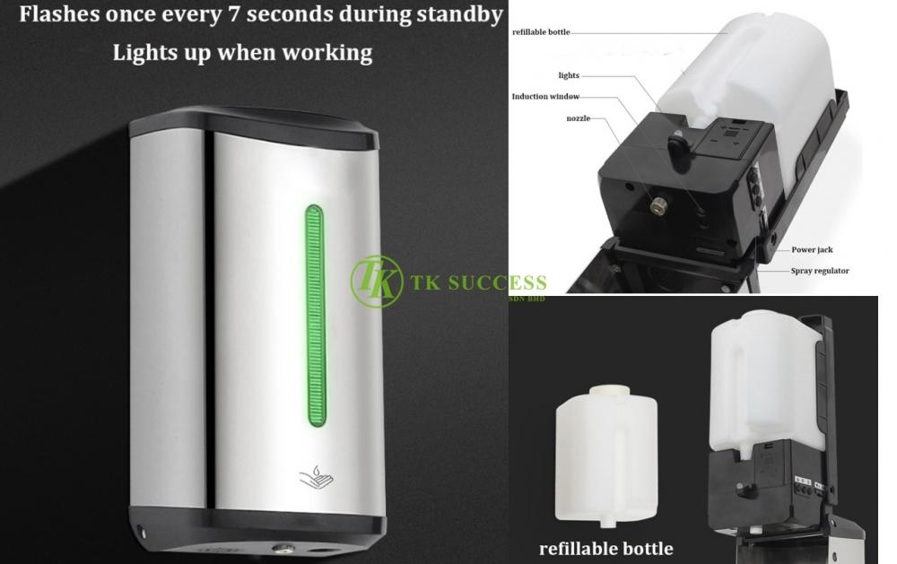 Anders Stainless Steel Auto Hand Sanitizer Dispenser 850 (Mist Pump)