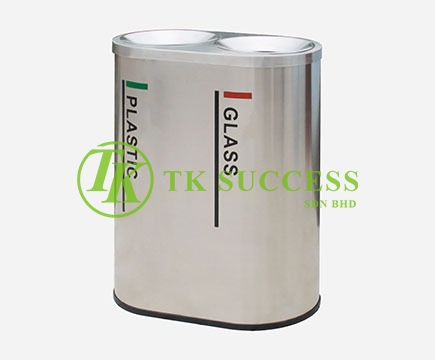 Stainless Steel Recycle Bin 2 in 1