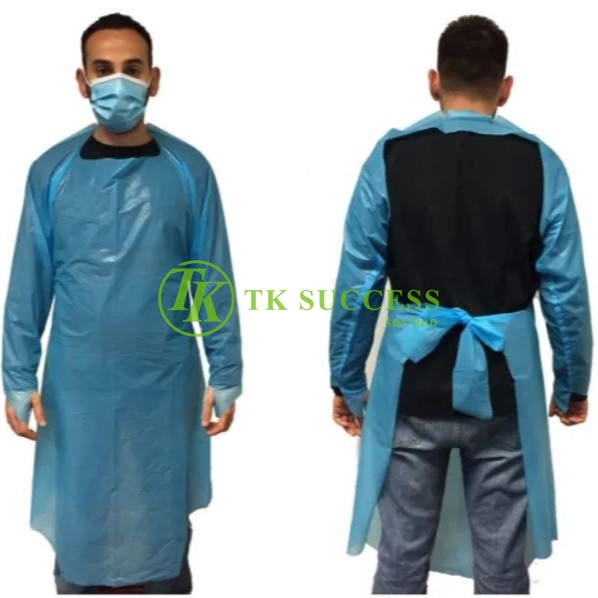 CPE Disposable Isolation Protective Apron Gown