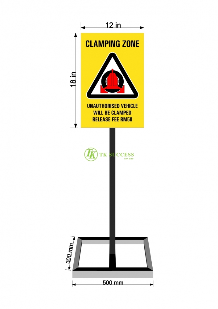 Clamping Signage Stand