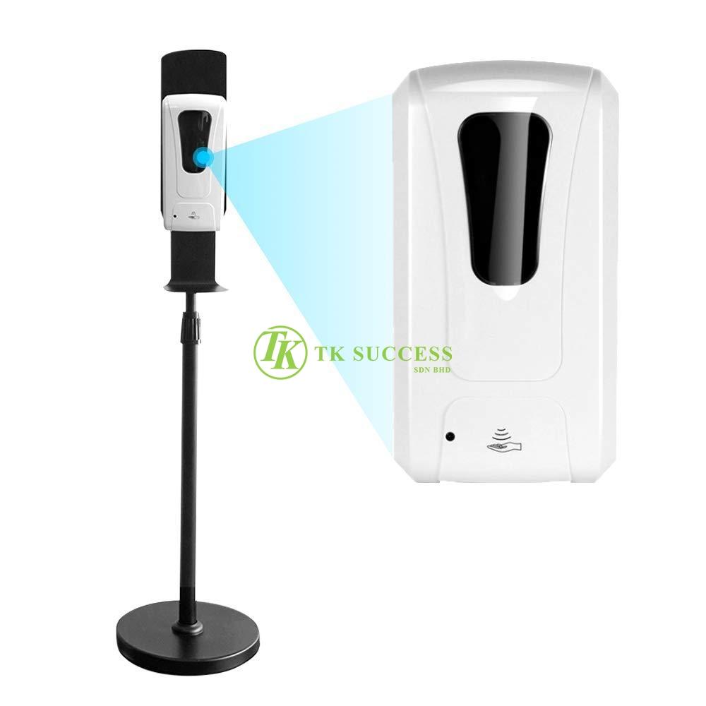 Black Powder Coated Adjustable stand + Hand Sanitizer Dispenser 1000ml